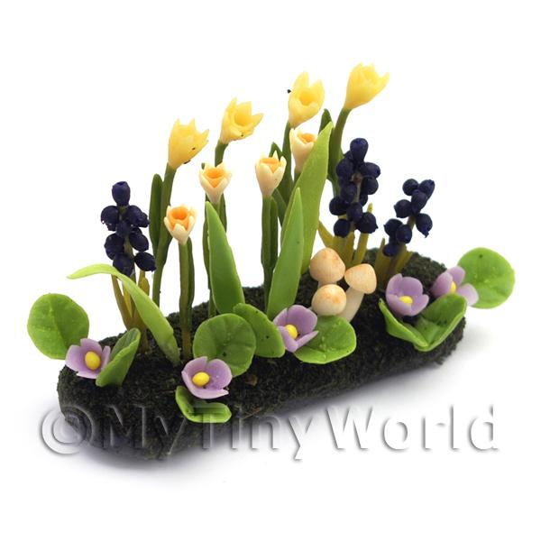 Dolls House Miniature Large DIY Flower Bed (DIY7)