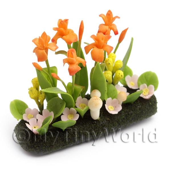 Dolls House Miniature Large DIY Flower Bed (DIY8)