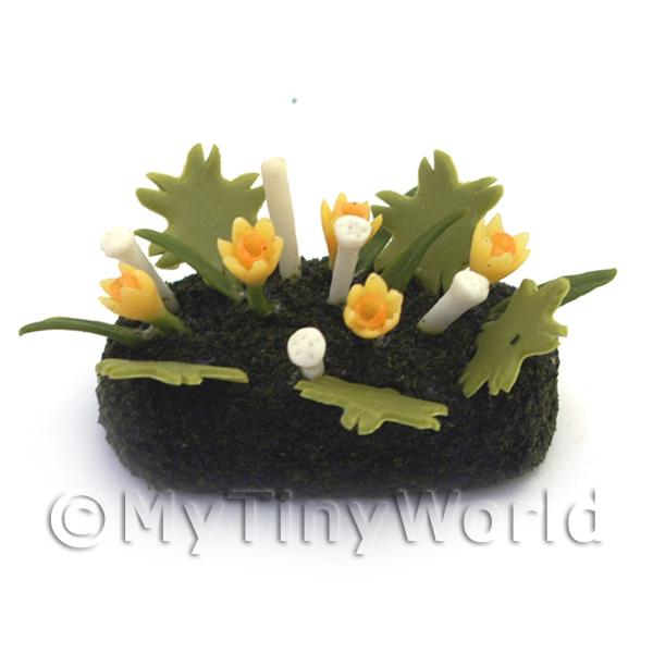Dolls House Miniature Small DIY Flower Bed (DIY13)
