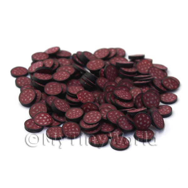 50 Fimo Black Pudding Cane Slices (NS21)
