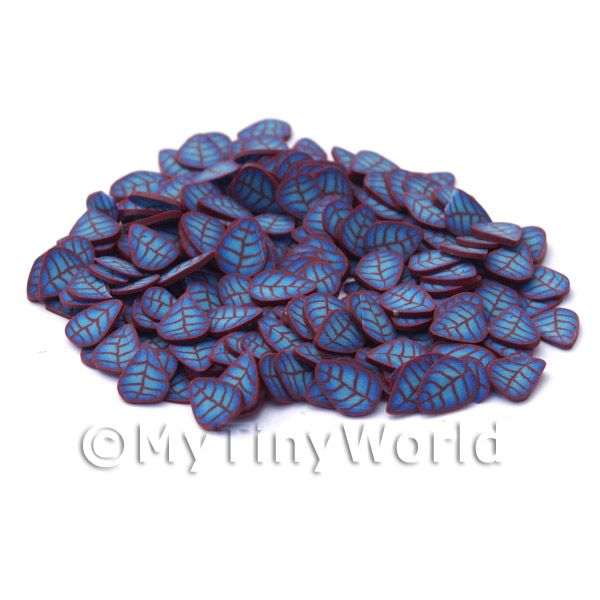 50 Blue and Copper Leaf Cane Slices (NS26)