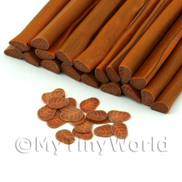 Handmade Brown and Copper Leaf Cane (NC22)