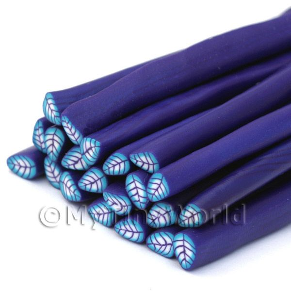 Handmade Purple and Blue Leaf Cane (NC23)
