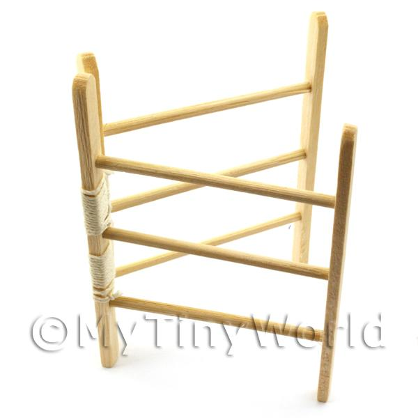 Dolls House Miniature Opening Wooden Clothes Horse