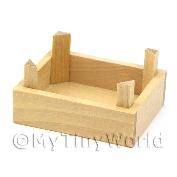 Dolls House Miniature Wooden Fruit or Vegetable crate