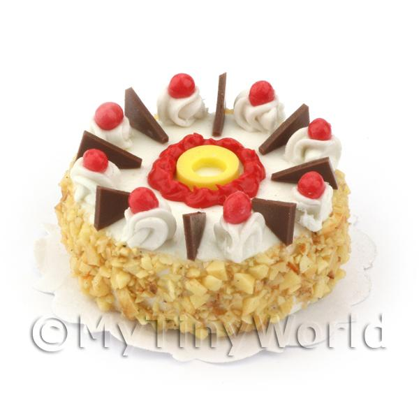 Dolls House Miniature  Cherry And Dark Chocolate Cake