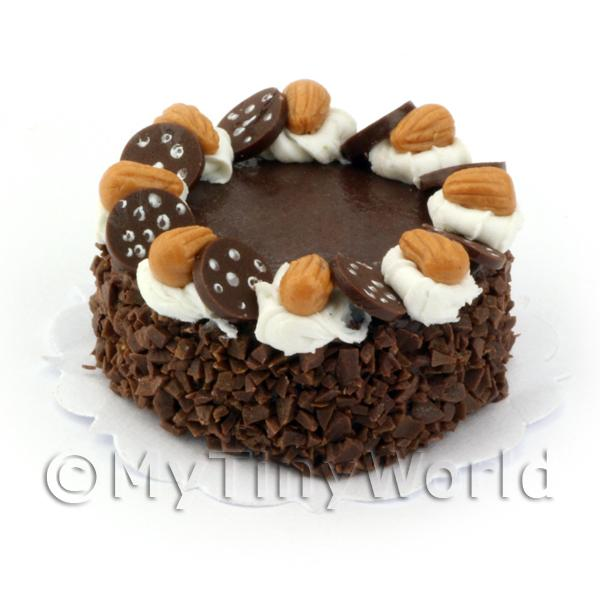 Dolls House Miniature Double Chocolate Gateaux