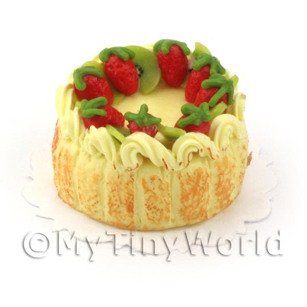 Dolls House Miniature Fruit Gateaux