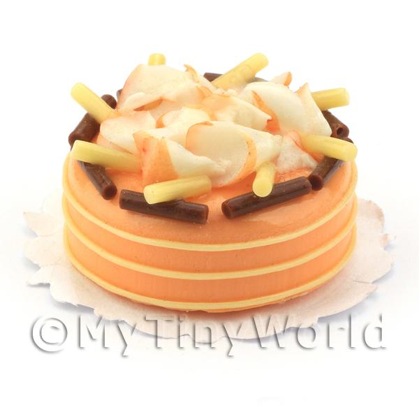 Dolls House Miniature  | Dolls House Miniature Chocolate Orange Gateaux