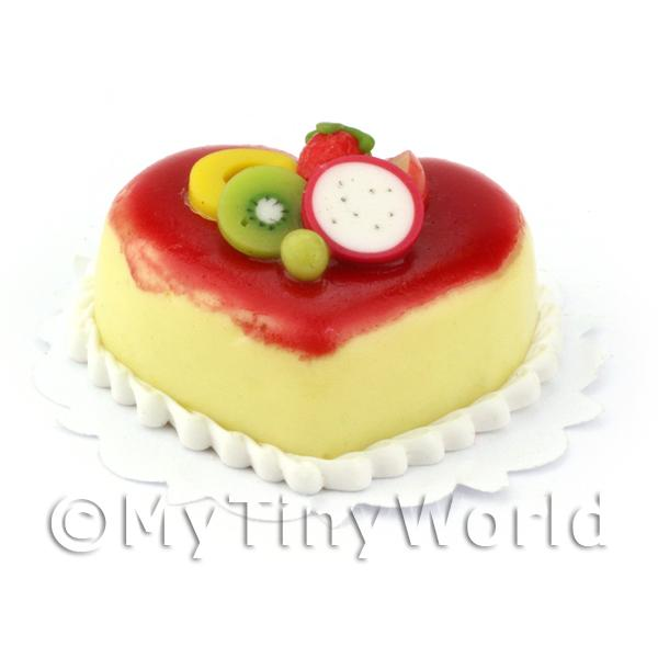 Dolls House Miniature  | Dolls House Miniature Vanilla and strawberry mousse