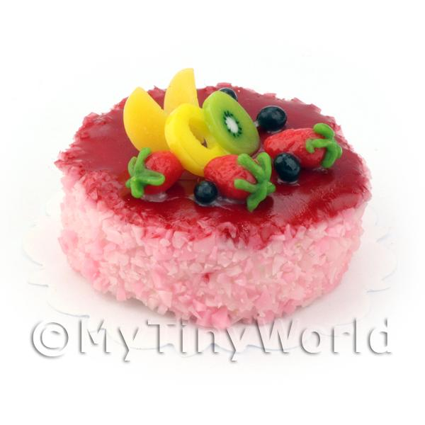 Dolls House Miniature Fruity Sponge Cake