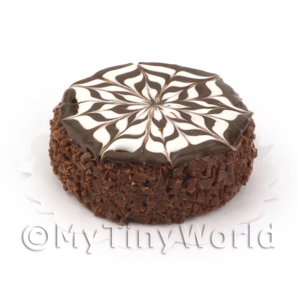Dolls House Miniature Chocolate Marble Cake