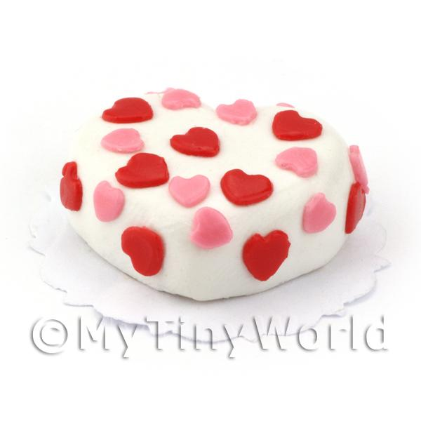 Dolls House Miniature Heart Sponge Cake