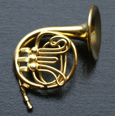 Dolls House Miniature French Horn