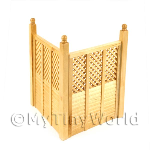 Dolls house Miniature 2 White Wood Fence Panels