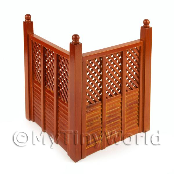 Dolls House Miniature  | Dolls house Miniature 2 Mahogany Coloured Fence Panels