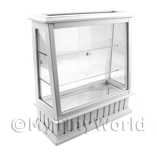 Dolls House Miniature  | Dolls House Miniature Tall Wood And Glass Shop Display Counter