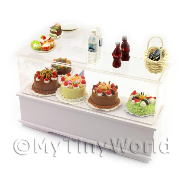Dolls House Miniature  | Dolls House Miniature L Shaped 2 Tier Filled right Hand Dessert Counter