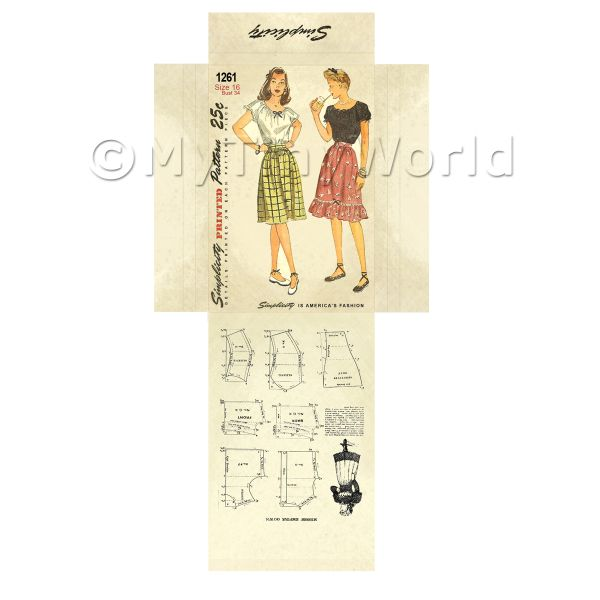 Dolls House Miniature  | Miniature DIY Simplicity Dress Pattern Packet (DPD004)