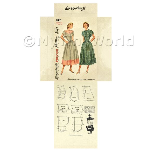 Dolls House Miniature  | Miniature DIY Simplicity Dress Pattern Packet (DPD025)