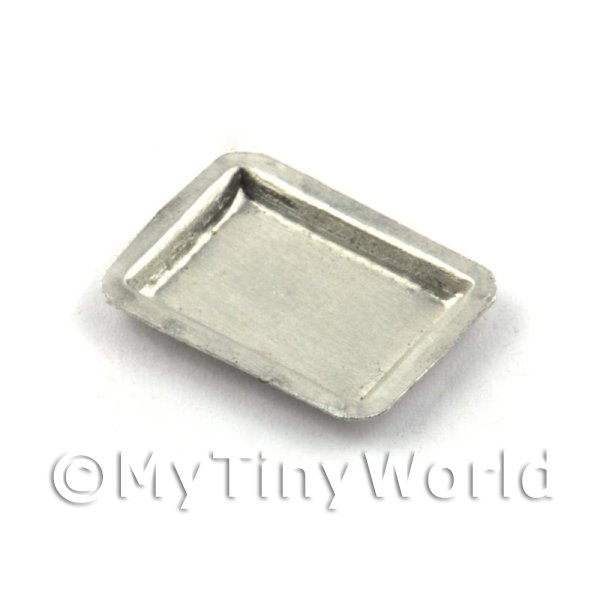 Dolls House Miniature  18mm Flat Metal Baking Tin