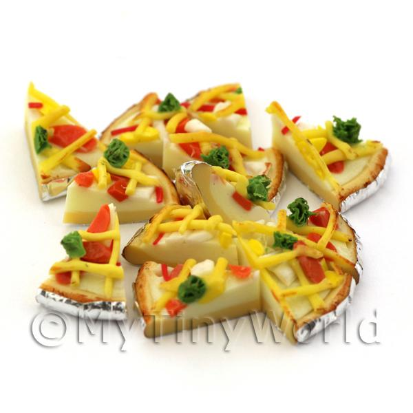 Dolls House Miniature  | Dolls House Miniature Foil Based Pizza Slice