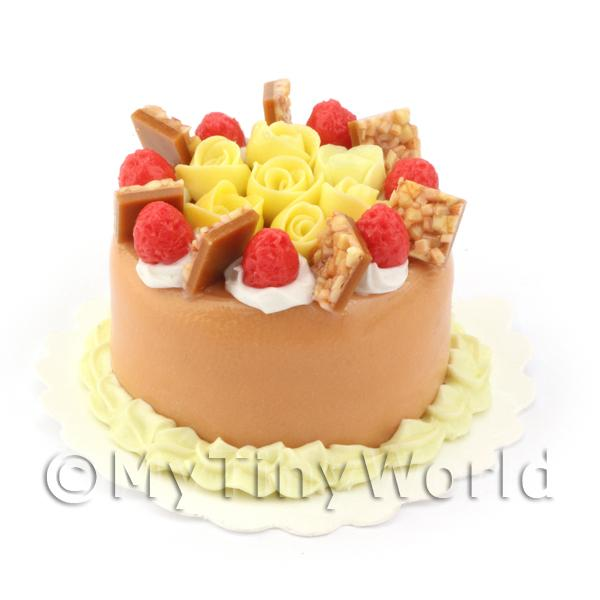 Dolls House Miniature  | Dolls House Miniature Orange Cake