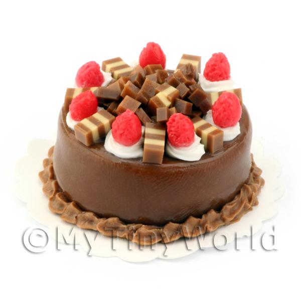 Dolls House Miniature Chocolate Fudge Cake