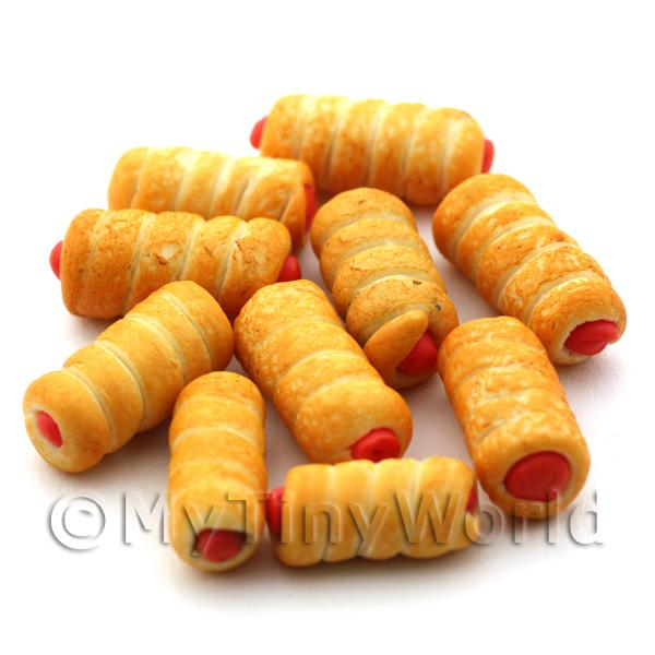 Dolls House Miniature  | Dolls House Miniature Savoury Sausage Roll Twist
