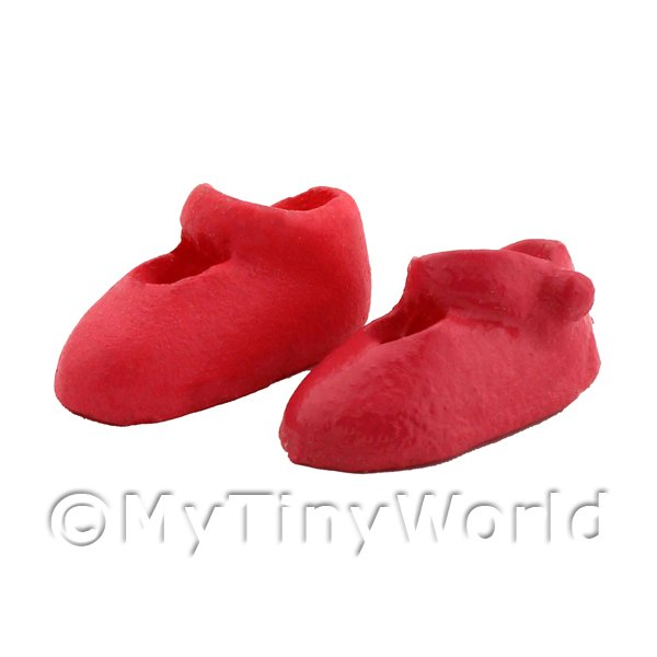Dolls House Miniature Pink Childrens Shoes