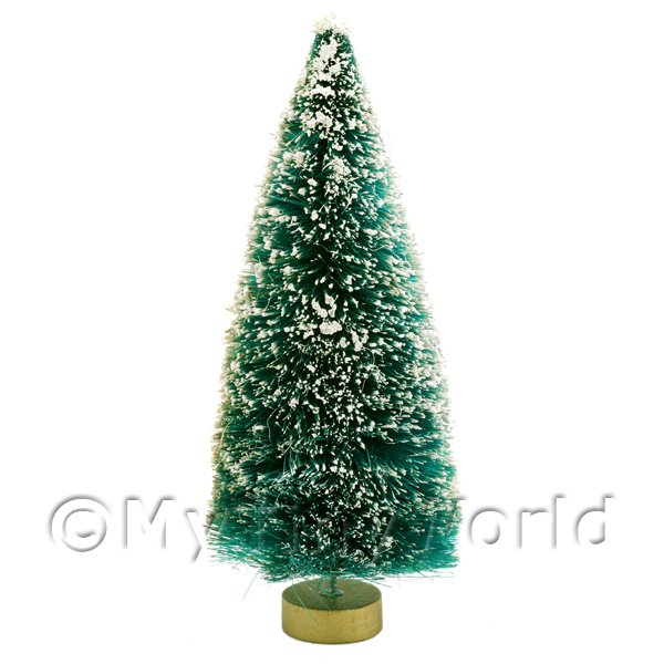 Dolls House Miniature Large Snow Covered Christmas Tree