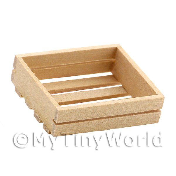 Dolls House Miniature Small Slated Wooden Crate