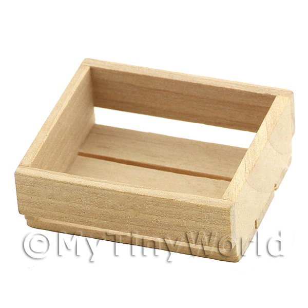 Dolls House Miniature  | Dolls House Miniature Small Wood Crate With Large Slats