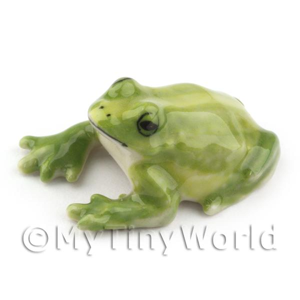 Dolls House Miniature  | Dolls House Miniature Ceramic Green Bull Frog