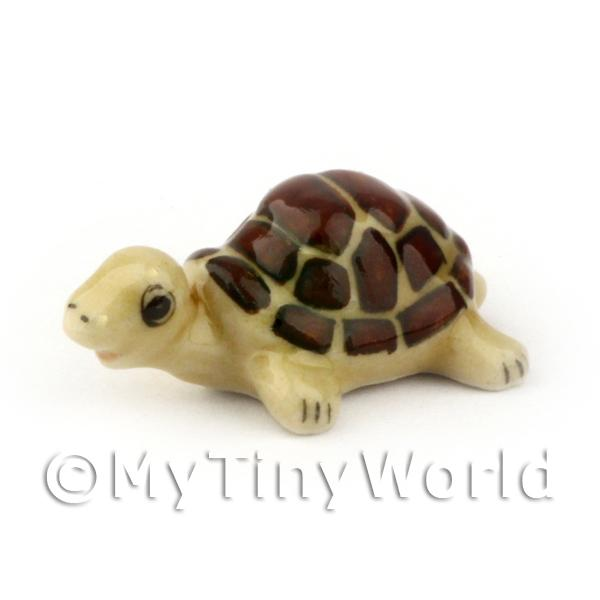 Dolls House Miniature  | Dolls House Miniature Ceramic Brown Tortoise