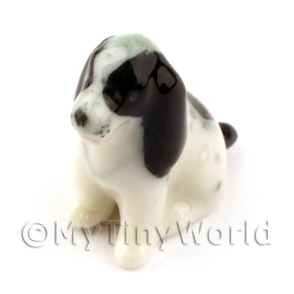 Dolls House Miniature  | Dolls House Miniature Ceramic Spaniel Dog