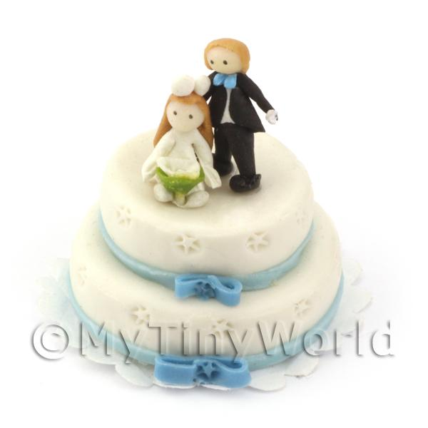 Dolls House Miniature Small Wedding Cake