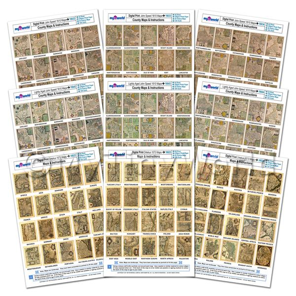 Dolls House 9 x A4 Value Sheets With 180 Maps - Our Entire Collection