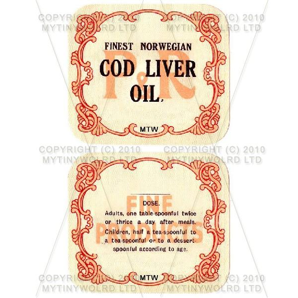 Finest Norwegian Cod Liver Oil 2 Part Apothecary Label