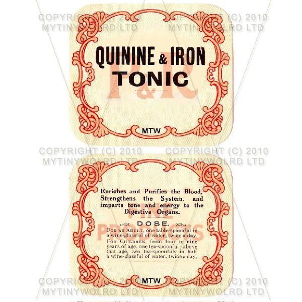 Quinine And Iron Tonic 2 Part Apothecary Label