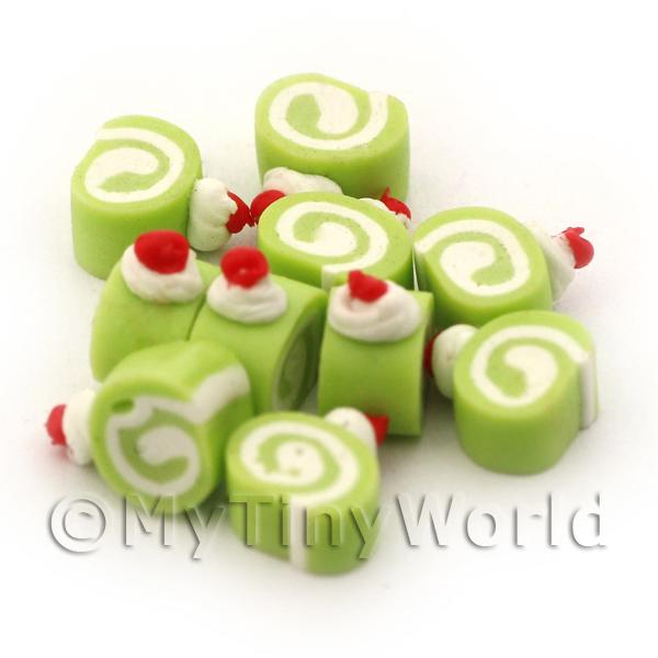 Dolls House Miniature Lemon, Lime and Cream Mini Roulade