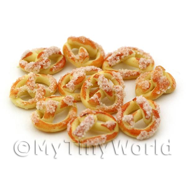Dolls House Miniature Large Sugared Sweet Pretzel