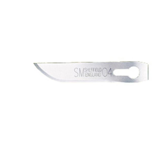 Pack of 5 RBS-SM4 Carbon Steel Craft Knife Blades