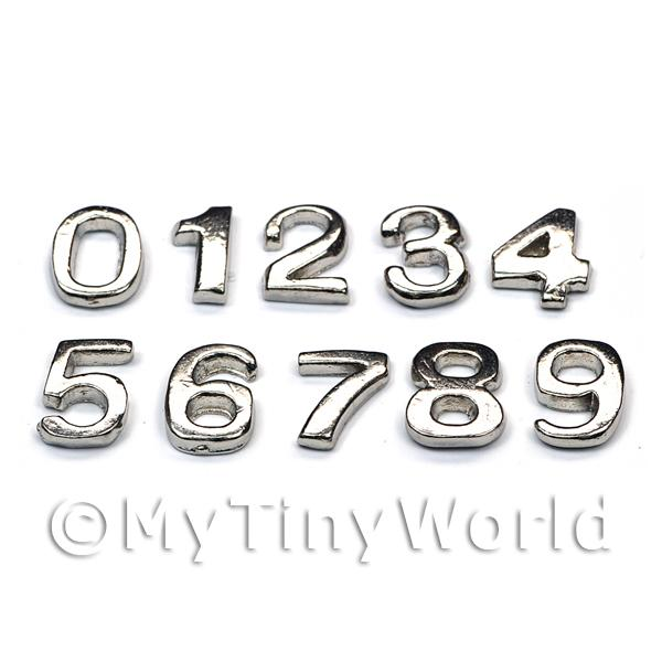 Dolls House Miniature  | Dolls House Miniature Chrome Numbers 0-9
