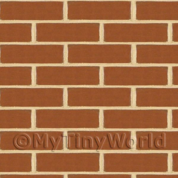 Dolls House Miniature New Brown/Red Brick Pattern Cladding