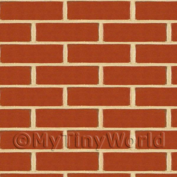 Dolls House Miniature New Dark Red Brick Pattern Cladding