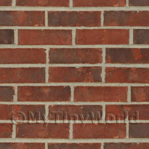 Dolls House Miniature Mixed Red Brick Pattern Cladding