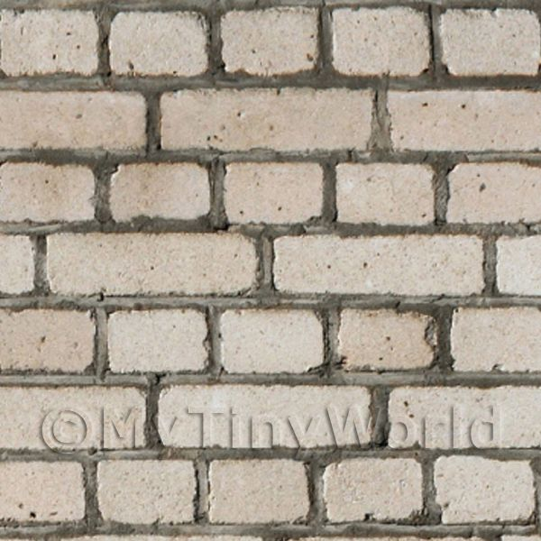 Dolls House Miniature Weathered Grey Brick Pattern Cladding