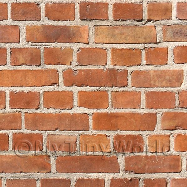 Dolls House Miniature  | Dolls House Miniature Mixed Tone Victorian Brick Pattern Cladding