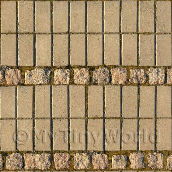 Dolls House Miniature Ornamental Brick/Cobble Pattern Cladding